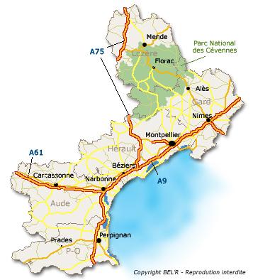 carte région languedoc-roussillon